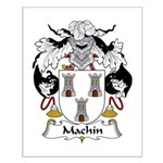 Machin Family Crest Small Poster