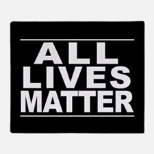 All Lives Matter Throw Blanket