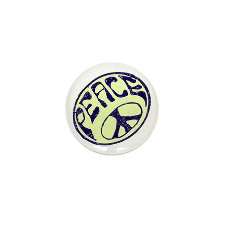 Vintage Peace Symbol #V8 Mini Button