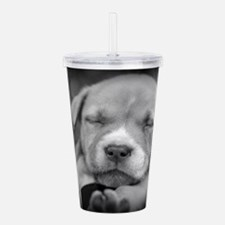 Cute Rescued dog Acrylic Double-wall Tumbler