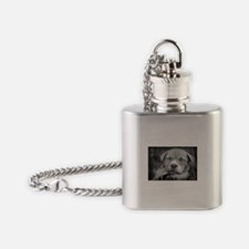 Cute Pit bull love Flask Necklace