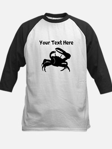 Crab Silhouette Baseball Jersey