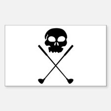 Golf Skull Crossed Clubs Decal