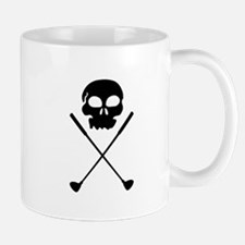 Golf Skull Crossed Clubs Mugs