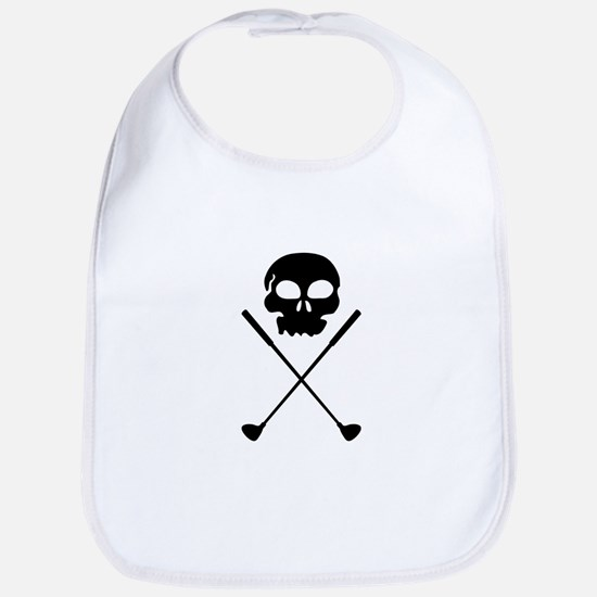 Golf Skull Crossed Clubs Bib