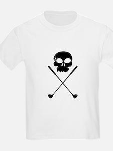 Golf Skull Crossed Clubs T-Shirt