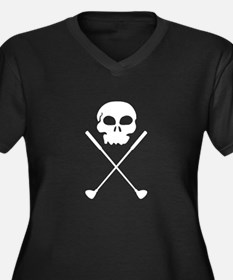 Golf Skull Crossed Clubs Plus Size T-Shirt