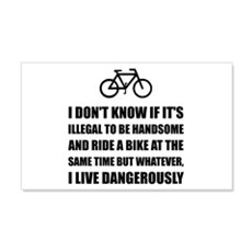 Handsome Ride Bike Wall Decal