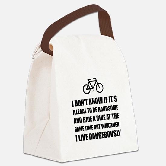 Handsome Ride Bike Canvas Lunch Bag