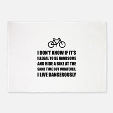 Handsome Ride Bike 5'x7'Area Rug