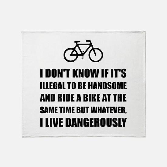 Handsome Ride Bike Throw Blanket