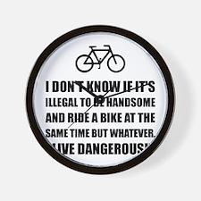 Handsome Ride Bike Wall Clock