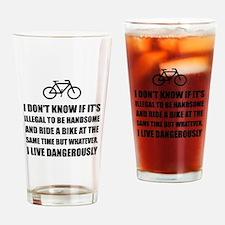 Handsome Ride Bike Drinking Glass