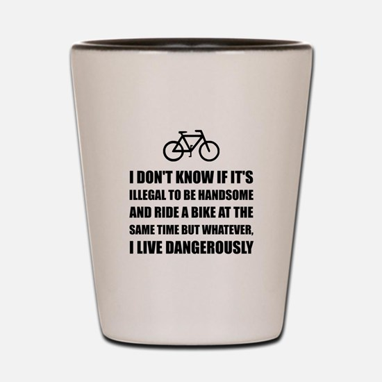 Handsome Ride Bike Shot Glass