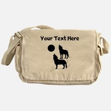 Coyotes Howling Silhouette Messenger Bag