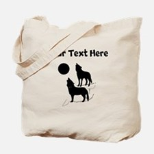 Coyotes Howling Silhouette Tote Bag