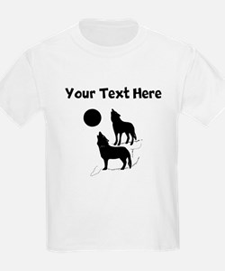 Coyotes Howling Silhouette T-Shirt
