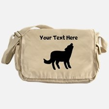 Howling Coyote Silhouette Messenger Bag