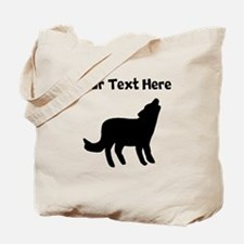 Howling Coyote Silhouette Tote Bag