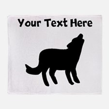 Howling Coyote Silhouette Throw Blanket