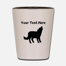 Howling Coyote Silhouette Shot Glass