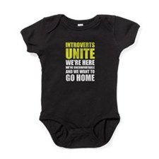 Introverts Unite Baby Bodysuit