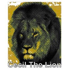 Tribute To Cecil The Lion Framed Print