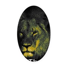 Tribute To Cecil The Lion Oval Car Magnet