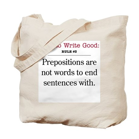 Prepositions - Tote Bag