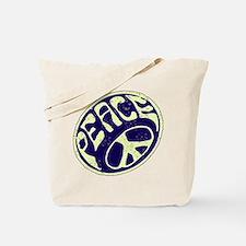 Vintage Peace Symbol #V9 Tote Bag