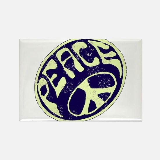 Vintage Peace Symbol #V9 Rectangle Magnet