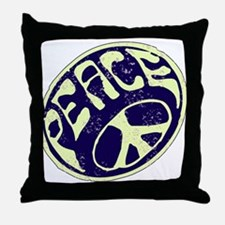 Vintage Peace Symbol #V9 Throw Pillow
