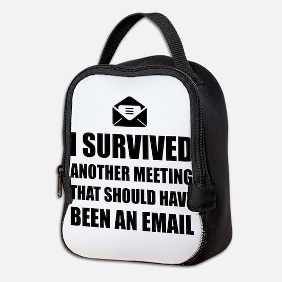 Meeting Email Neoprene Lunch Bag