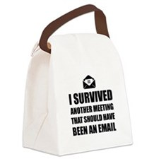Meeting Email Canvas Lunch Bag