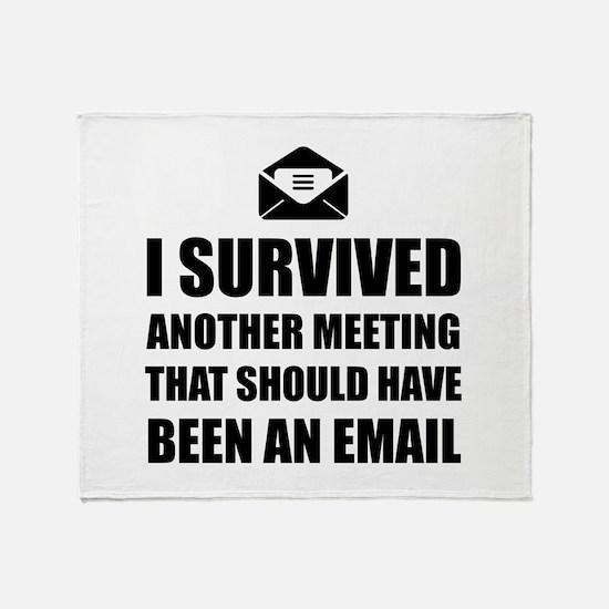 Meeting Email Throw Blanket