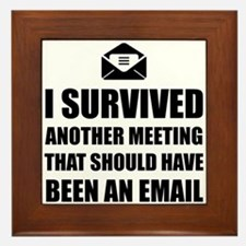 Meeting Email Framed Tile