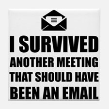 Meeting Email Tile Coaster