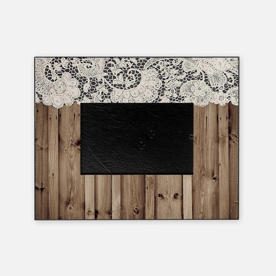 shabby chic lace barn wood Picture Frame