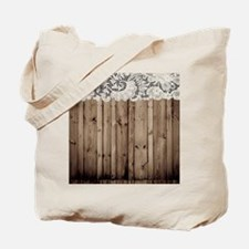 shabby chic lace barn wood Tote Bag