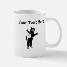 Cat And Yarn Silhouette Mugs