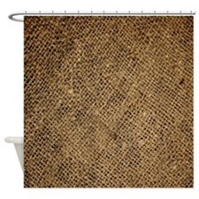 shabby chic country burlap Shower Curtain