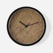 shabby chic country burlap Wall Clock