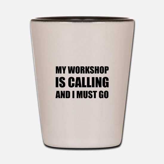 Workshop Calling Shot Glass