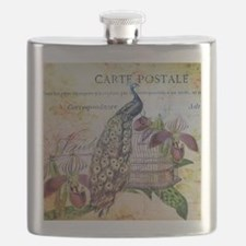 purple orchid birdcage peacock Flask