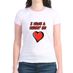 I Have a Heart On Jr. Ringer T-shirt