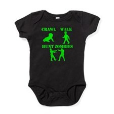 Crawl Walk Hunt Zombies Baby Bodysuit