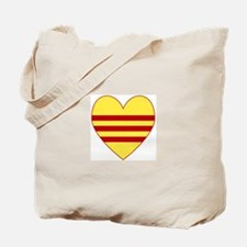 Republic of South Vietnam Flag Heart Tote Bag