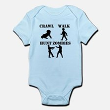 Crawl Walk Hunt Zombies Body Suit