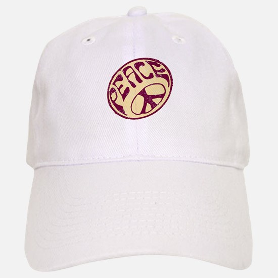 Distressed Peace Symbol #V12 Hat