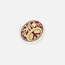 Distressed Peace Symbol #V12 Mini Button